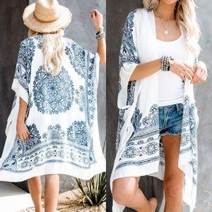 Accessories - Kimono mandala print coverup boho scarf